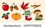 autumn set of natural elements  ... | Shutterstock .eps vector #1999795832