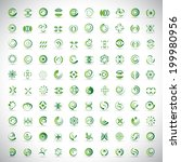 unusual icons set   isolated on ... | Shutterstock .eps vector #199980956