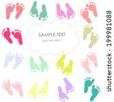 Baby Footprint Kids Greeting...