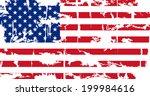 american grunge flag. grunge... | Shutterstock .eps vector #199984616