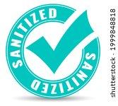 sanitized safe area sign...   Shutterstock . vector #1999848818