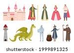 fairytale characters. cartoon... | Shutterstock .eps vector #1999891325