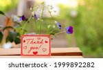 Thank You Word. Flowers With...
