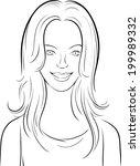 whiteboard drawing   beautiful... | Shutterstock .eps vector #199989332