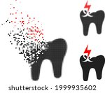 damaged dotted tooth crash... | Shutterstock .eps vector #1999935602
