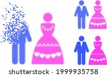 destructed dotted marriage...   Shutterstock .eps vector #1999935758