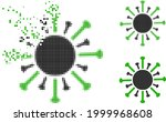 damaged dotted contagious virus ...   Shutterstock .eps vector #1999968608