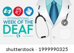 international week of the deaf... | Shutterstock .eps vector #1999990325