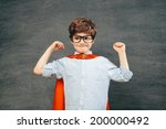 cheerful smiling little kid ... | Shutterstock . vector #200000492
