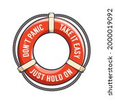 lifebuoy retro illustration....   Shutterstock .eps vector #2000019092