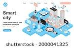 smart city isometric concept....   Shutterstock .eps vector #2000041325