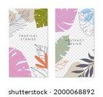 set of editable insta story... | Shutterstock .eps vector #2000068892
