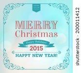 vector festive inscription with ... | Shutterstock .eps vector #200011412