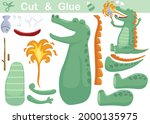 green monster grilling a fish.... | Shutterstock .eps vector #2000135975