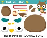 cute owl flying while carrying... | Shutterstock .eps vector #2000136092