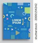 memphis design elements...   Shutterstock .eps vector #2000154242