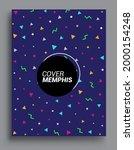 memphis design elements...   Shutterstock .eps vector #2000154248