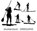 athletes on a surfboard with a... | Shutterstock .eps vector #200016542
