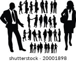 man and woman couples...   Shutterstock .eps vector #20001898