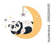 cartoon panda vector...   Shutterstock .eps vector #2000204105
