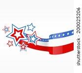 vector background of american... | Shutterstock .eps vector #200025206