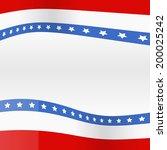 vector background of american... | Shutterstock .eps vector #200025242