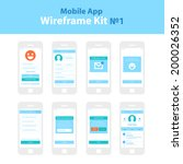 mobile app wireframe ui kit  1. ...