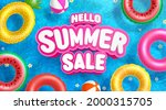 summer sale poster and banner... | Shutterstock .eps vector #2000315705