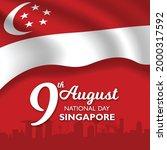 singapore national day banner... | Shutterstock .eps vector #2000317592