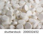 White Pills Background