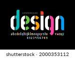 modern lowercase style font... | Shutterstock .eps vector #2000353112