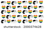 seamless pattern with gay...   Shutterstock .eps vector #2000374628