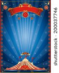 blue night circus poster. a... | Shutterstock .eps vector #200037746