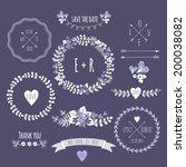 set of vintage styled design... | Shutterstock .eps vector #200038082