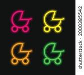 baby stroller four color... | Shutterstock .eps vector #2000385542