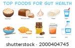 top foods for gut health.... | Shutterstock .eps vector #2000404745