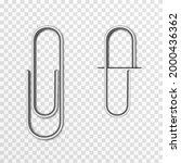 set of vector paper clips on... | Shutterstock .eps vector #2000436362