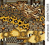 traditional african fabric and... | Shutterstock .eps vector #2000476355