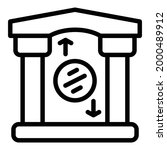 bank reserves building icon.... | Shutterstock .eps vector #2000489912