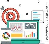 strategic dashboards concept ...   Shutterstock .eps vector #2000526458