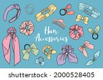 collection of cute drawn ... | Shutterstock .eps vector #2000528405