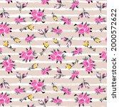 bunch of roses horizontal...   Shutterstock .eps vector #2000572622