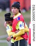 Постер, плакат: Neymar and David Luiz