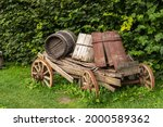 Old Traditional Wooden Tip Cart ...