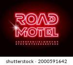 vector bright sign road motel.... | Shutterstock .eps vector #2000591642