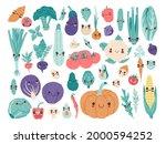 Cute Kawaii Baby Vegetables Set ...