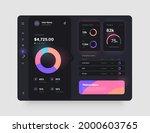 dashboard design in dark colors....