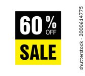 60  off. yellow and black...   Shutterstock .eps vector #2000614775