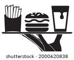 food service. waiter hand...   Shutterstock .eps vector #2000620838