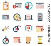deadline icons set. flat set of ... | Shutterstock .eps vector #2000624762